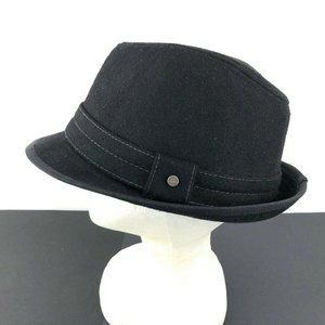 Stetson Men's Black Wool Blend Fedora Hat, Large